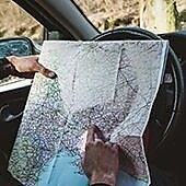 Man holding route Map